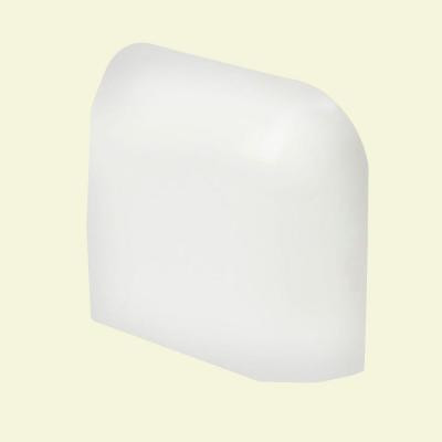 Color Collection Matte Snow White 2 in. x 2 in. Ceramic Radius Corner Wall Tile-DISCONTINUED