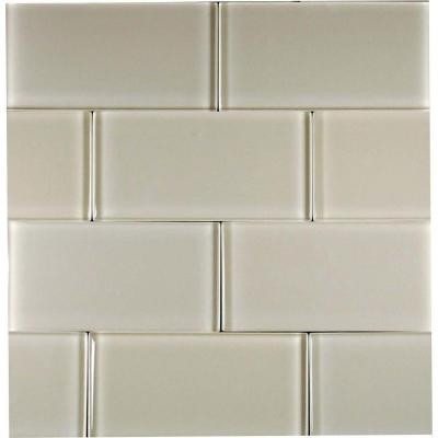 Desertz Kalahari-1423 Glass Subway Tile - 3 in. x 6 in. Tile Sample-DISCONTINUED