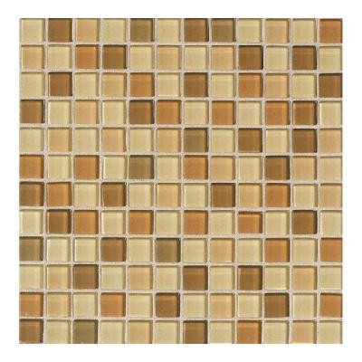 Maracas Desert Mirage Blend 12 in. x 12 in. 8mm Glass Mesh Mounted Mosaic Tile (10 sq. ft. / case)-DISCONTINUED