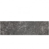 Metal Effects 3 in. x 13 in. Radiant Iron Porcelain Surface Bullnose Floor and Wall Tile-DISCONTINUED