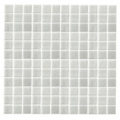 Monoz M-Pearlecent-1405 Mosiac Recycled Glass Mesh Mounted Floor & Wall Tile - 4 in. x 4 in. Tile Sample-DISCONTINUED
