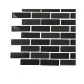 Contempo Smoke Gray Brick Glass Tile Sample