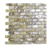 Baroque Pearls Mini Brick Pattern Floor and Wall Tile Sample
