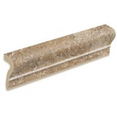 Artea Stone 2-1/4 in. x 6-1/2 in. Cappuccino Porcelain Sink-Rail Wall Tile-DISCONTINUED