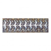 Cristallo Glass Black Opal 3 in. x 8 in. Perennial Glass Accent Wall Tile