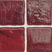 Sonterra Glass Scarlet 12 in. x 12 in. x 6mm Glass Sheet Mounted Mosaic Wall Tile (10 sq. ft. / case)-DISCONTINUED