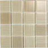 Brushstrokes Chiarro-1502-3 Mosaic Glass Mesh Mounted - 4 in. x 4 in. Tile Sample-DISCONTINUED