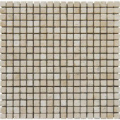 Tuscany Beige 12 in. x 12 in. x 10 mm Tumbled Travertine Mesh-Mounted Mosaic Tile (10 sq. ft. / case)