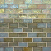 Edgewater Del Mar 1 in. x 2 in. 10-5/8 in. x 10-5/8 in. Glass Floor & Wall Mosaic Tile-DISCONTINUED