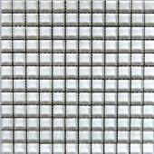 Snowbird-1471 Mosaic Glass Mesh Mounted Tile - 3 in. x 3 in. Tile Sample