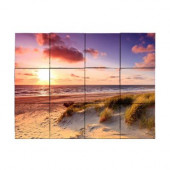 Beach1 24 in. x 18 in. Tumbled Marble Tiles (3 sq. ft. /case)