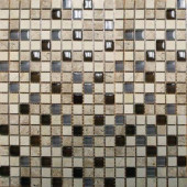 Cafe Noche 12 in. x 12 in. x 8 mm Glass Stone Mesh-Mounted Mosaic Tile (10 sq. ft. / case)