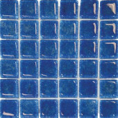 12 in. x 12 in. Blue Glass Mesh-Mounted Mosaic Tile-DISCONTINUED