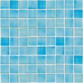 Oceanz Caribbean-1701 Recycled Glass Anti Slip 12 in. x 12 in. Mesh Mounted Floor & Wall Tile (5 sq. ft.)