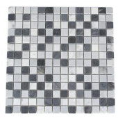 Carrera and Bardiglio Blend 12 in. x 12 in. x 8 mm Marble Floor and Wall Tile