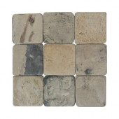Travertine Copper 12 in. x 12 in. Tumbled Stone Floor and Wall Tile (10 sq. ft. / case)
