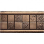 3 in. x 6 in. Cast Metal Mosaic Deco Classic Bronze Tile (10 pieces / case) - Discontinued