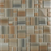 Contempo Jasper-1672 Mosaic Glass Mesh Mounted Tile - 4 in. x 4 in. Tile Sample-DISCONTINUED