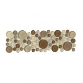 Elegant Pebble Liner 4 in. x 12 in. x 6 mm Glass Accent Strip