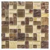 Native Ocean 12 in. x 12 in. x 8 mm Marble Mosaic Wall Tile