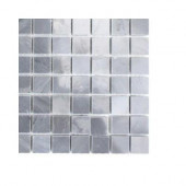 Dark Bardiglio Squares Marble Floor and Wall Tile - 6 in. x 6 in. Tile Sample-DISCONTINUED