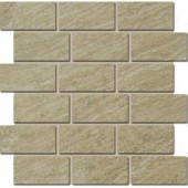 Terra Brazilian Slate 12 in. x 12 in. Porcelain Brick-Joint Mosaic Floor/Wall Tile-DISCONTINUED