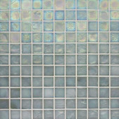 Edgewater Abalone 1 in. x 1 in. 11 3/4 in. x 11 3/4 in. Glass Floor & Wall Mosaic Tile-DISCONTINUED
