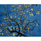Van Gogh, Branches of an Almond Tree in Blossom 11 in. x 14 in. Wall Tile-DISCONTINUED