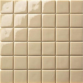 12.5 in. x 12.5 in. Capri Beige Glossy Glass Tile-DISCONTINUED