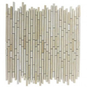 Windsor Random Jerusalem Gold 12 in. x 12 in. x 8 mm Marble Floor and Wall Tile