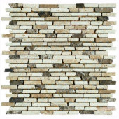 Nerva Stone 12 in. x 12 in. Natural Stone Floor and Wall Tile Mosaic-DISCONTINUED