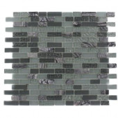 Paris Rain Blend Brick Marble and Glass 12 in. x 12 in. x 8 mm Mosaic Floor and Wall Tile, Sold by the Square Foot