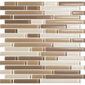 Color Blends Arena-1605 S Gloss Strips Mosaic Glass Mesh Mounted Tile - 4 in. x 4 in. Tile Sample-DISCONTINUED