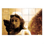 Angel1 36 in. x 24 in. Tumbled Marble Tiles (6 sq. ft. /case)