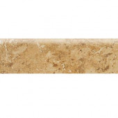Heathland Amber 3 in. x 12 in. Glazed Ceramic Bullnose Floor and Wall Tile