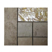Piozzi Listello 4 in. x 4 in. Porcelain Corner Mosaic Tile-DISCONTINUED