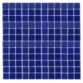 Monoz M-Blue-1402 Mosaic Recycled Glass 12 in. x 12 in. Mesh Mounted Floor & Wall Tile (5 sq. ft.)
