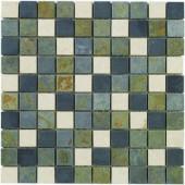 Slate Medley 12 in. x12 in. x 8 mm Travertine Slate Mosaic Floor/Wall Tile