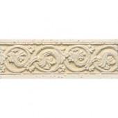 Listel Dore Botticino 8 in. x 3 in. Natural Ceramic Trim Tile-DISCONTINUED