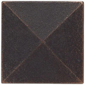 2 in. x 2 in. Cast Metal Pyramid Dot Dark Oil Rubbed Bronze Tile (10 pieces / case) - Discontinued