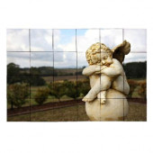 Angel2 36 in. x 24 in. Tumbled Marble Tiles (6 sq. ft. /case)