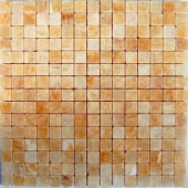 Honey Onyx 12 in. x 12 in. Marble Mosaic Floor and Wall Tile-DISCONTINUED