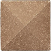 2 in x 2 in. Cast Stone Pyramid Dot Noche Tile (10 pieces / case) - Discontinued