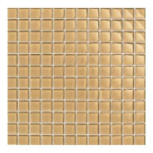 Maracas Golden Rod 12 in. x 12 in. 8mm Glass Mesh Mounted Mosaic Wall Tile (10 sq. ft. / case)-DISCONTINUED