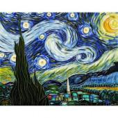Van Gogh, Starry Night Trivet/Wall Accent Tile (felt back)-DISCONTINUED
