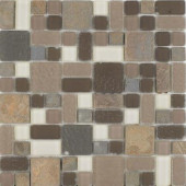 No Ka 'Oi Wailea-Wa420 Stone And Glass Blend Mesh Mounted Floor and Wall Tile - 3 in. x 3 in. Tile Sample