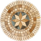 Medallion 7116, 36 In. Travertine Floor and Wall Tile-DISCONTINUED