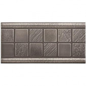 3 in. x 6 in. Cast Metal Mosaic Deco Brushed Nickel Tile (10 pieces / case) - Discontinued