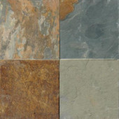 Three Rivers Gold 12 in. x 12 in. Gauged Slate Floor and Wall Tile (10 sq. ft. / case)