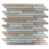 Glass 12 in. x 12 in. Glass Mosaic Floor and Wall Tile-DISCONTINUED